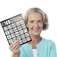 "EZ Readers Large-Format 8.5"" x 11"" Bingo Cards, Jumbo 1-inch Numbers, 25-pack"