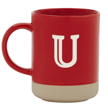 Personalized RedEnvelope Modern Monogram Stoneware Coffee (Personalized Stoneware)