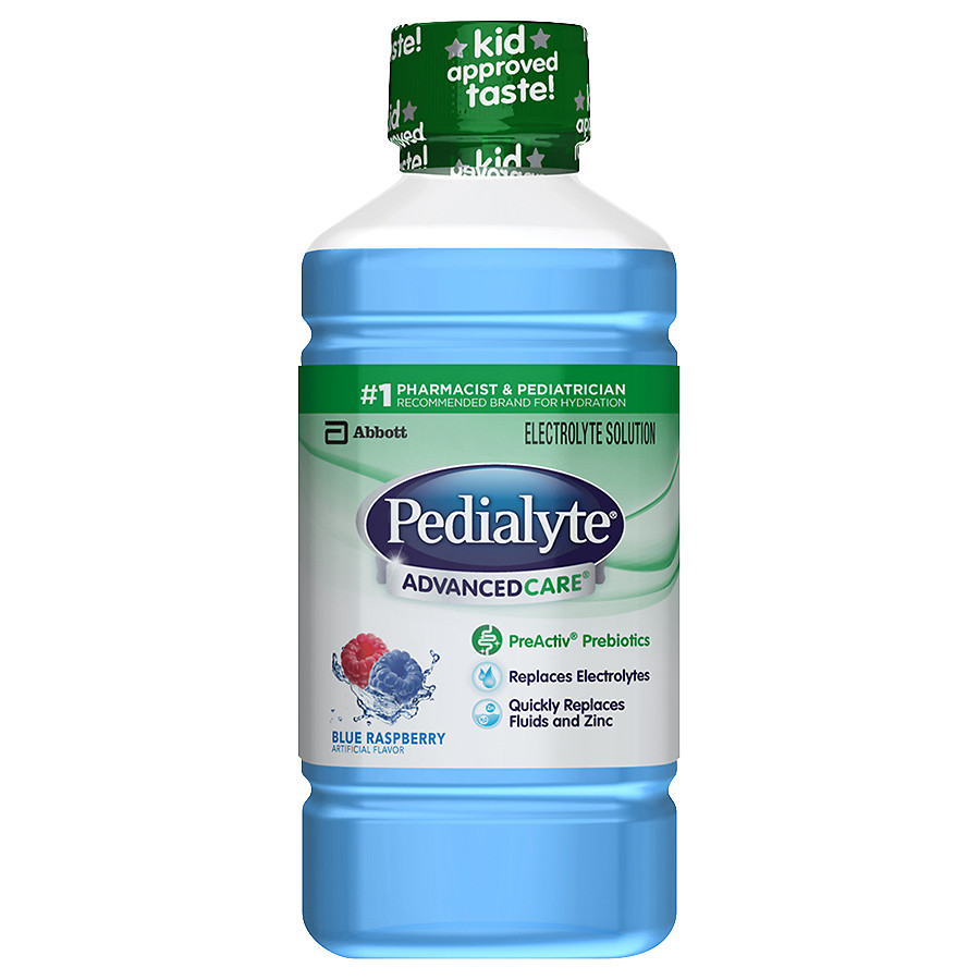 Pedialyte AdvancedCare Oral Electrolyte Solution Blue Raspberry1.1 qt(pack of 1)