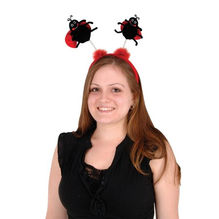 Club Pack of 12 Black and Red Ladybug Boppers Headband Party Favors