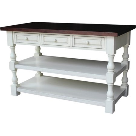 wood top for kitchen island Just Cabinets Furniture And More Tuscan Kitchen Island With