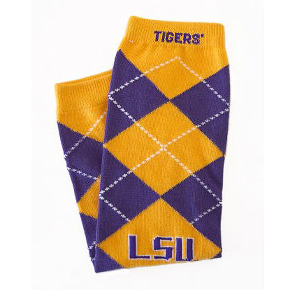 Little Big Fan Lsu Arm & Leg Warmers - Argyle