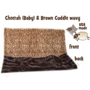 Brown Cheetah Itty Bitty Baby Blanket