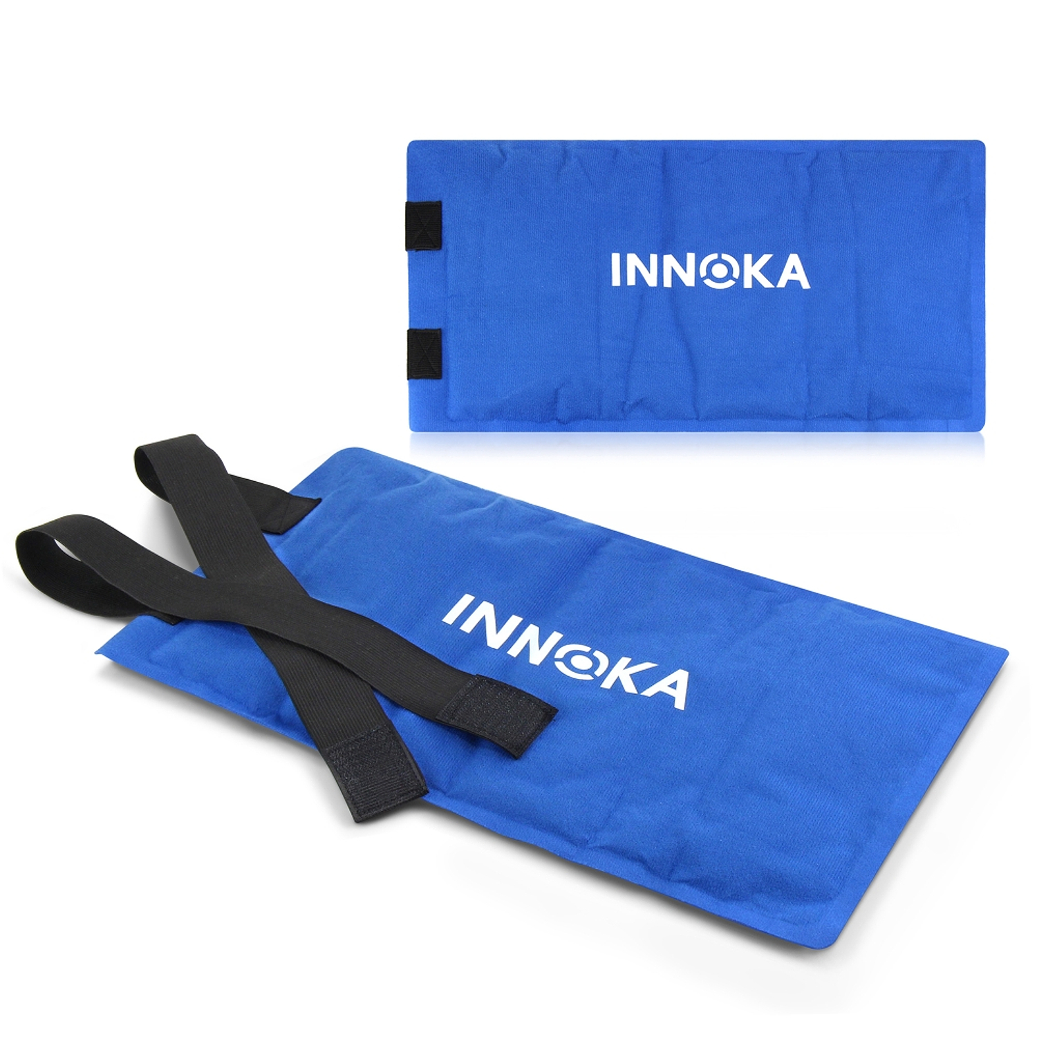 Innoka Dual Hot & Cold Large Therapy Treatment Clay Pack with Adjustable Strap for Relief Knee Elbow Back Body Pain - Blue