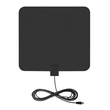 onn. Ultra-Thin Indoor Antenna, Multi-Directional with 75-Mile Range