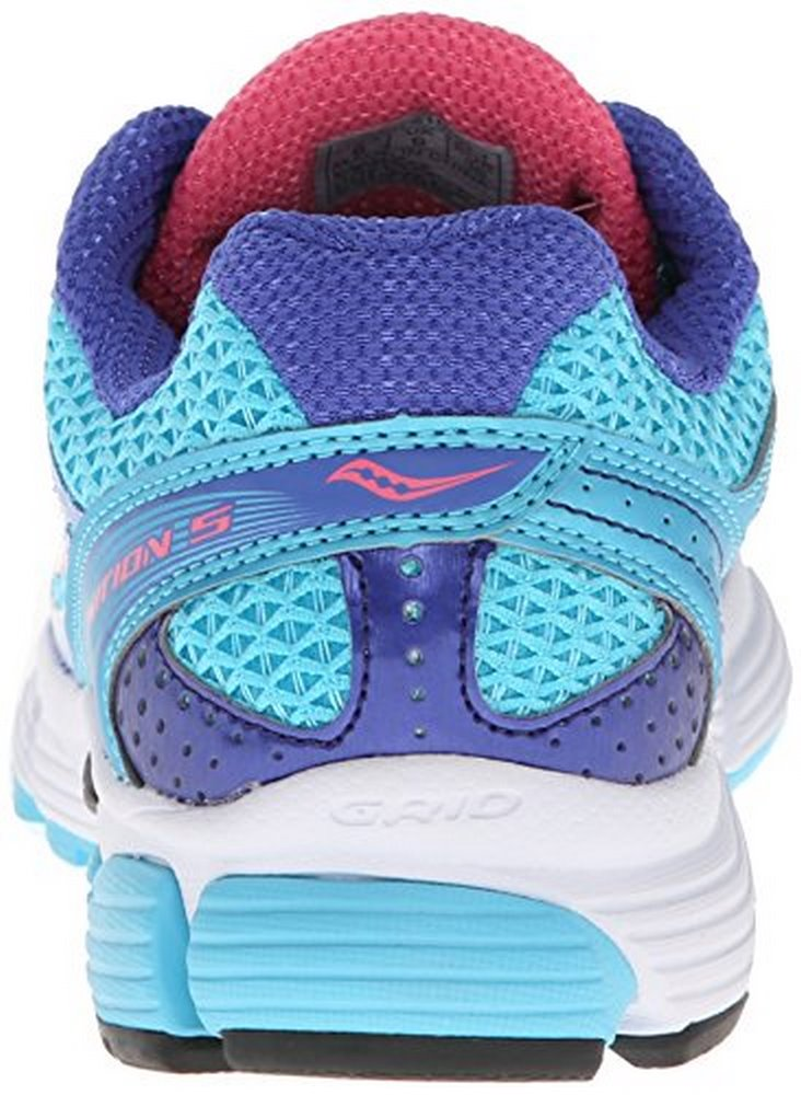 Saucony Women's Ignition 5 Running Shoe,Blue Pink,5.5 M US by