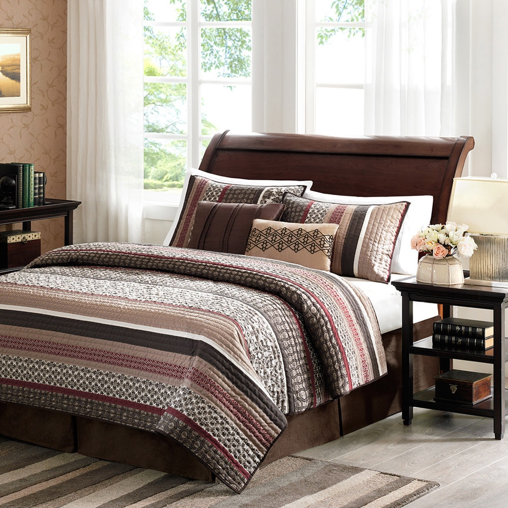 Home Essence Cambridge 5-Piece Bedding Quilted Coverlet Set by E&E Co. Ltd