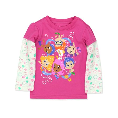 Bubble Guppies Toddler Girls Long Sleeve T-Shirt Tee - Gil Bubble Guppies