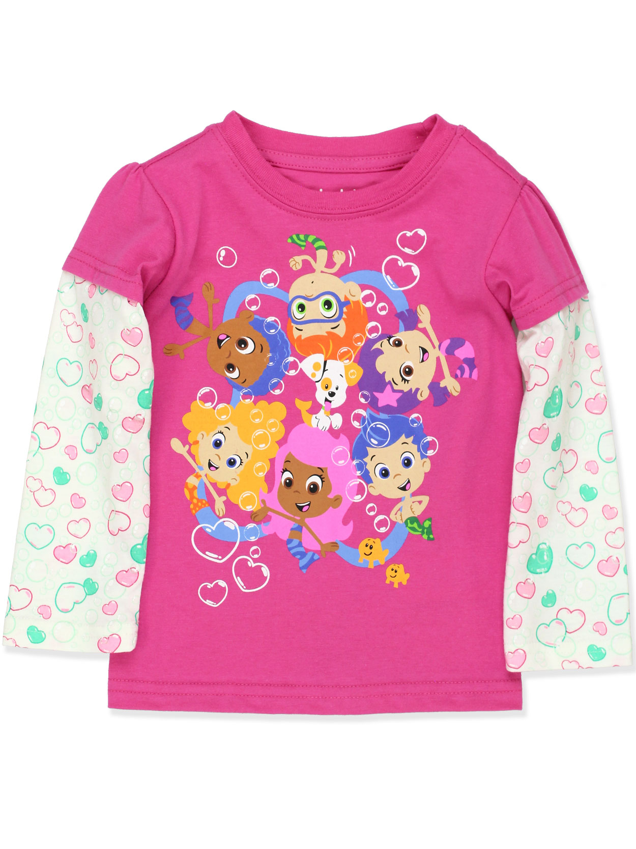 Bubble Guppies Toddler Girls Long Sleeve T-Shirt Tee ANBB706