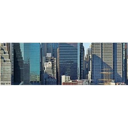New York City Skyscrapers (Skyscrapers in a city New York City New York State USA 2011 Poster)