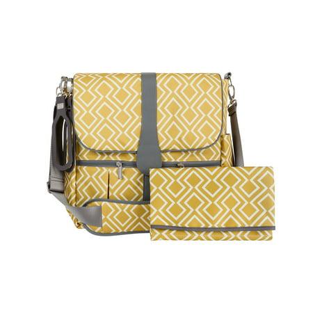 Jj Cole Backpack Diaper Bag   Citrine Lattice