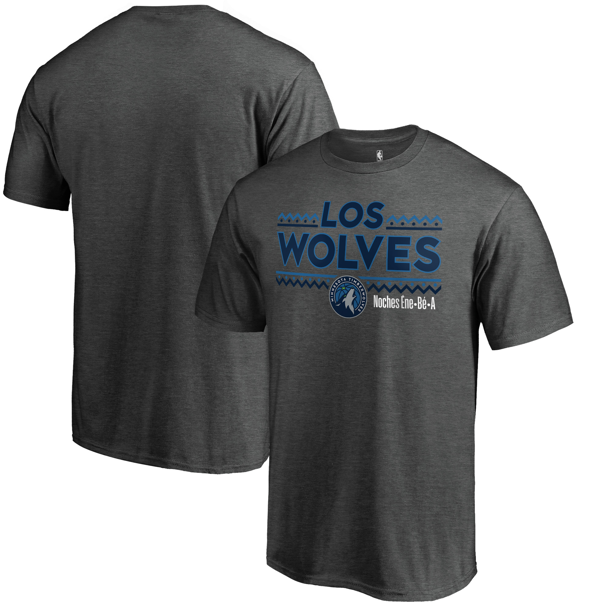 Minnesota Timberwolves Fanatics Branded Noches Ene-Be-A Wordmark T-Shirt - Heather Gray