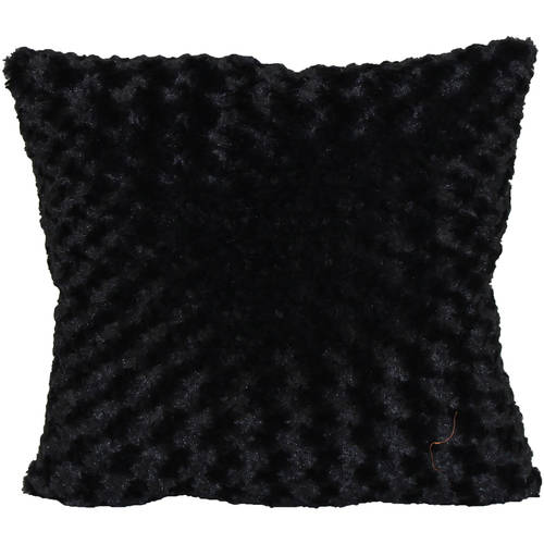 "Better Homes and Gardens Rosette Fur Decorative Toss Pillow 18""x18\ by Brentwood Originals"