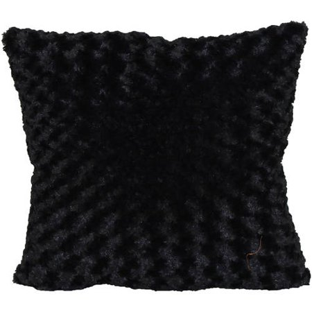 Patchwork Toss Pillow (Better Homes & Gardens Rosette Fur Decorative Toss Pillow 18