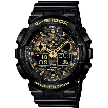 Casio  G-Shock XL GA-100CF-1A9 Analog-Digital Watch Black/ Green - N/A (Casio G Shock Smartphone)
