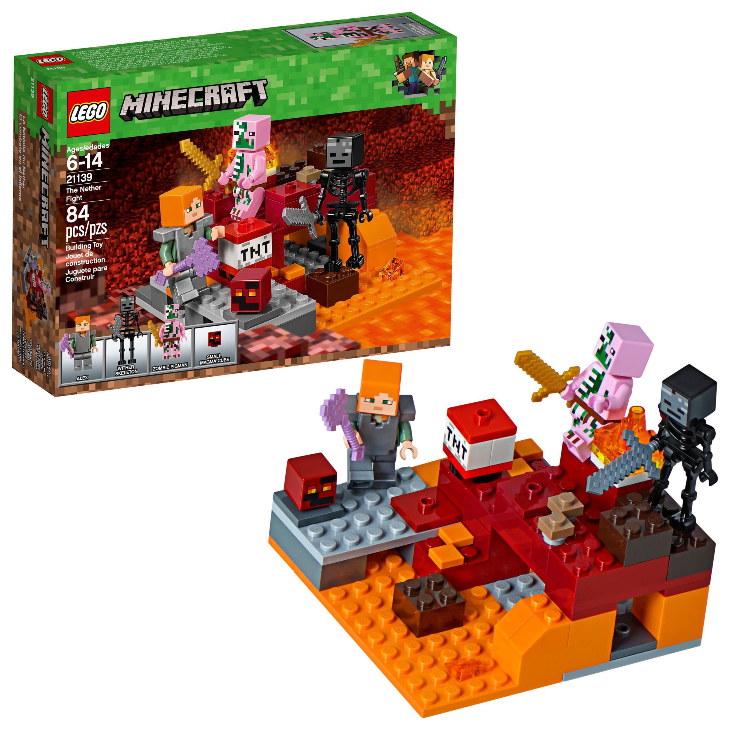LEGO Minecraft™ The Nether Fight 21139 (84 Pieces)