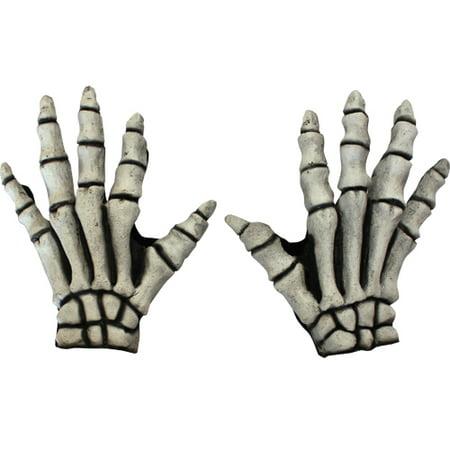 White Bones Skeleton Gloves Costume Accessory - Skeleton Hand Gloves