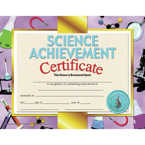 Hayes School Publishing Science Achievement Certificate (Set of 30)