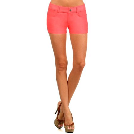 Big Kids Turquoise Apparel (Women Apparel Women'S Solid Color Jegging Shorts (Coral))