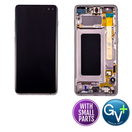 Touch Screen Digitizer and AMOLED Frame Assembly Display Assembly for Prism Black Samsung Galaxy S10 Plus SM-G975, SM-G975U, SM-G975W, SM-G975F/DS (6.4
