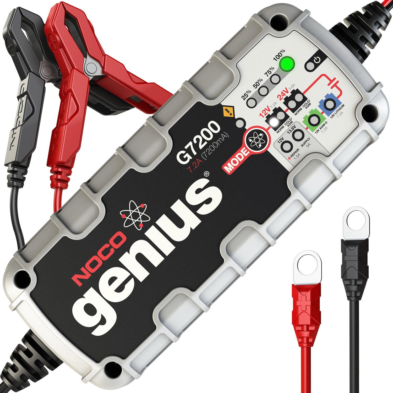 NOCO Genius G7200 12V/24V 7.2 Amp UltraSafe Smart Battery Charger