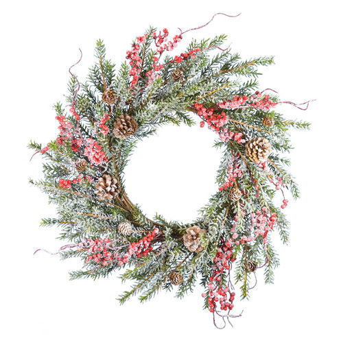 Fantastic Craft Snow 22'' Pine and Berry Wreath