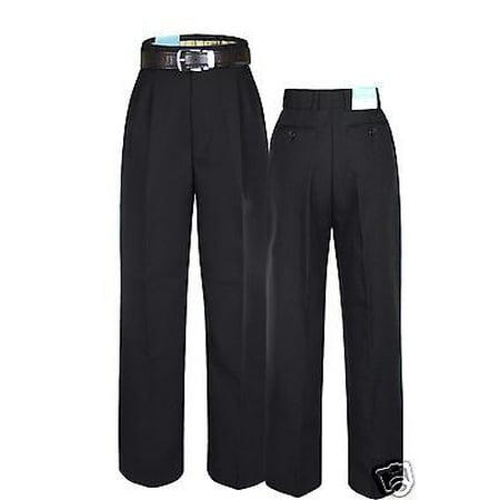 Boys Kid Teen Formal Wedding Church School Pants in Charcoal + Free Belt sz 8-20