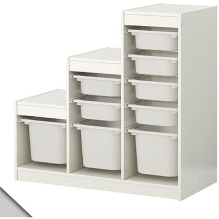 IKEA - TROFAST Storage combination (A1) with boxes, white, 63834.262311.24 ()