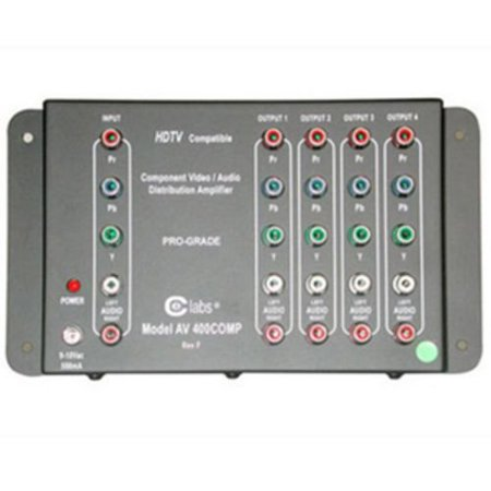 4-Output Component Video + Stereo Audio Distribution Amplifier