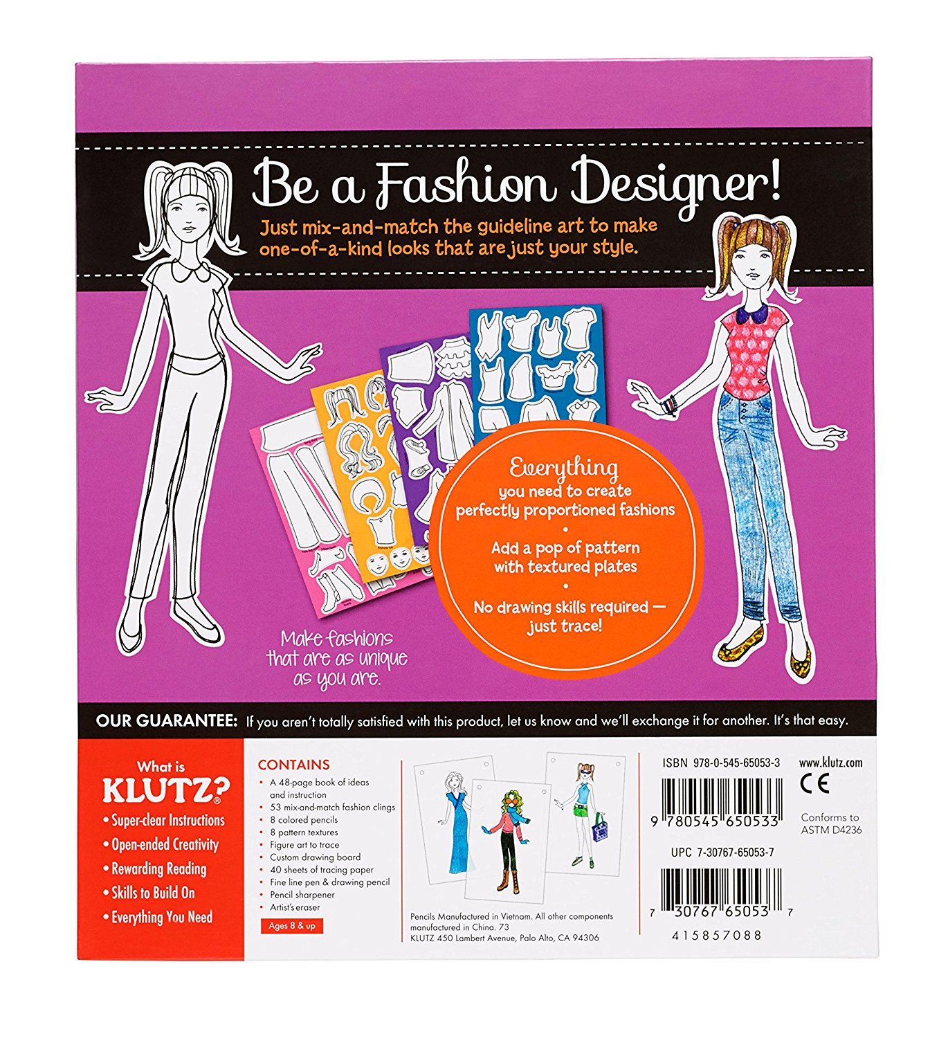 My Style Studio Design And Trace Your Own Fashions Trace Color And Display Your Own Fashion Inspirations By Klutz Usa Walmart Com Walmart Com