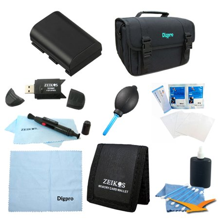 Special Loaded Value LP-E6 Battery Kit for Canon 5D Mark III & II,6D, 7D & 60D - Includes LP-E6 Replacement Battery, Carrying Case, USB 2.0 Card Reader, 3 Card Memory Card Wallet, Cleaning Cloth, Scre