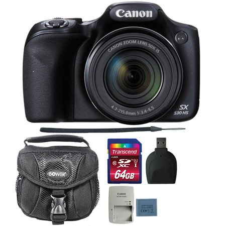 Canon PowerShot SX530 HS 16MP Digital Camera with 64GB Ultimate Accessory Bundle