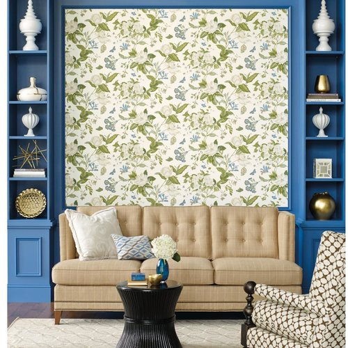 York Wallcoverings Williamsburg Garden Images 27 X 27 Floral And Botanical Wallpaper