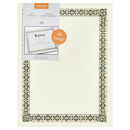 Gartner Studios 36004-S Gold Foil Certificate