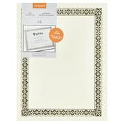 Gartner Studios 36004-S Gold Foil Certificate, 15 Pack