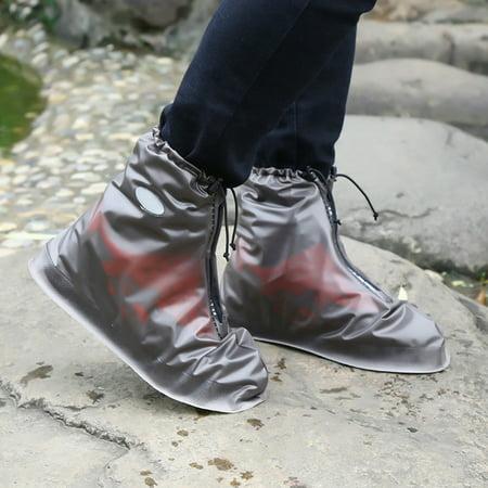 Waterproof Shoes Cover Reusable Rain Snow Boots Wear-resistant Slip-Resistant Overshoes Covers for Men & Women Color:White Size:XXL - image 4 de 8