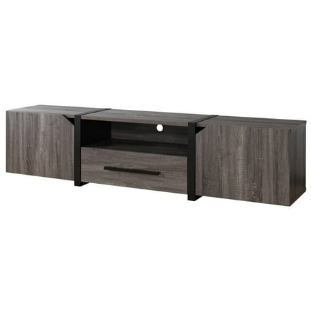 Furniture of America Diego 81.5-inch TV Stand in Distressed Gray ()