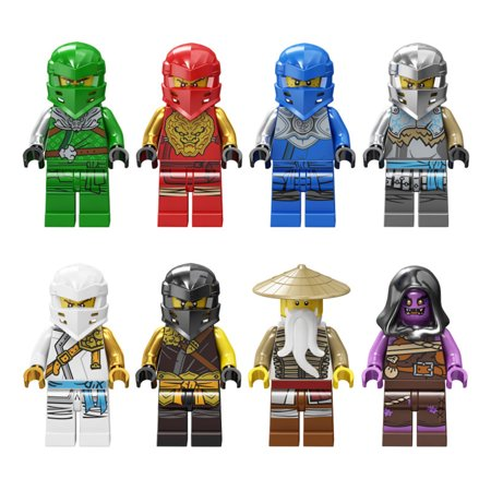 Ninjago Set of 8 Figures - Wooden Children Assembled Building Blocks Toys Gift - image 2 de 3