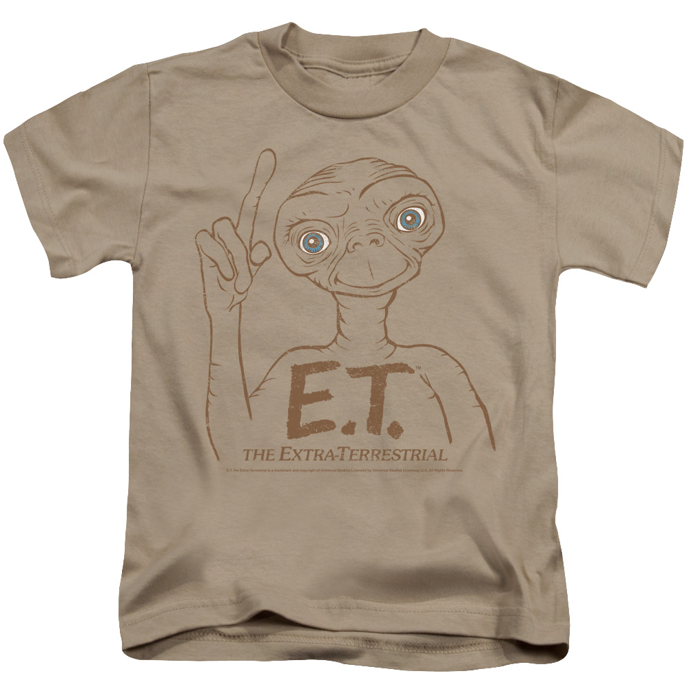 ET the Extra Terrestrial Pointing Little Boys Shirt