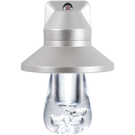 GE Vintage LED Night Light, Plug-In, Dusk to Dawn, Silver Hood, 41417
