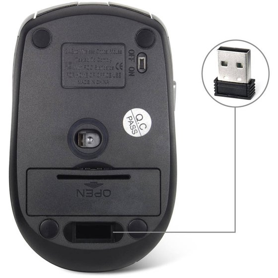 fa01dcf9215 JETech 2.4GHz Wireless Mobile Optical Mouse with 6 Buttons - Walmart.com
