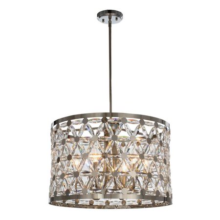 Maxim 39505BCPN Cassiopeia 6-Light Round Pendant Ceiling Light, Polished Nickel - image 1 of 1