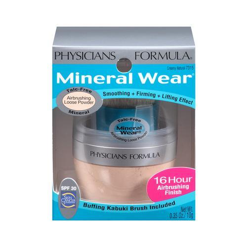 Physicians Formula Mineral Wear Talc-Free Mineral Airbrushing Loose Powder, Creamy Natural, 0.35 Ounce