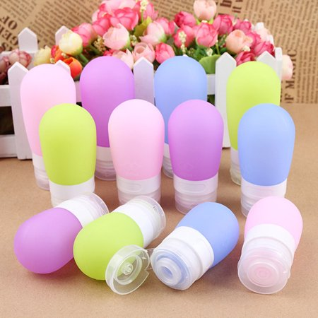 Silicone Press Bottle For Shampoo Shower Lotion Gel Sub Bottling Squeeze Makeup Refillable Bottles Portable Travel