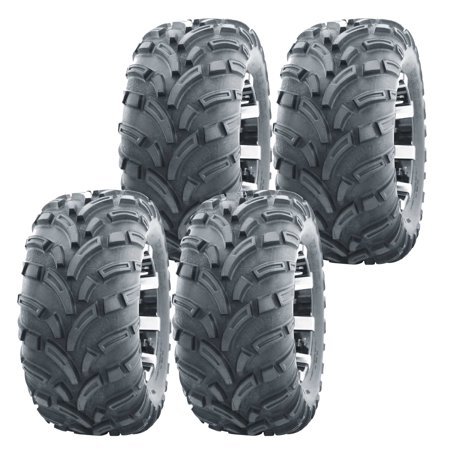 Set of 4 WANDA ATV UTV tires 25x8-12 25X8X12 Front & Rear 6PR (Atv Rear Drop)