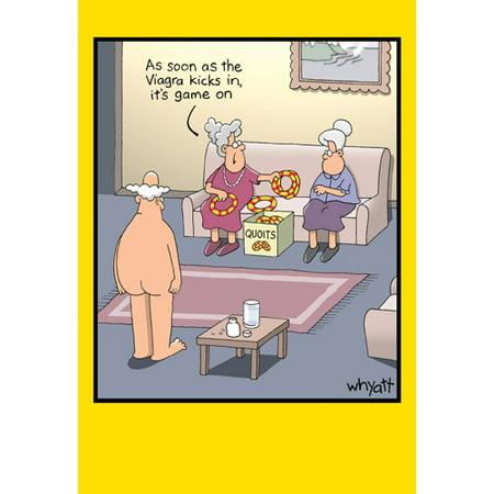 Nobleworks Ring Toss Funny / Humorous Tim Whyatt Birthday Card