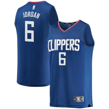 DeAndre Jordan LA Clippers Fanatics Branded Fast Break Replica Jersey Blue - Icon Edition