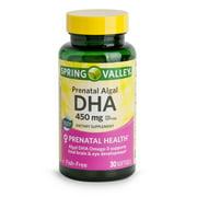 Spring Valley Prenatal Algal DHA Softgels, 450 mg, 30 Count