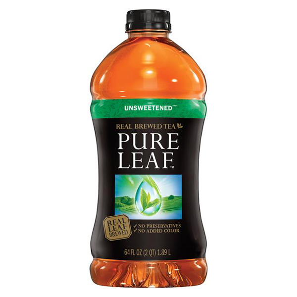 Pure Leaf Unsweetened Iced Tea 64 Oz Plastic Bottles - Pack of 8