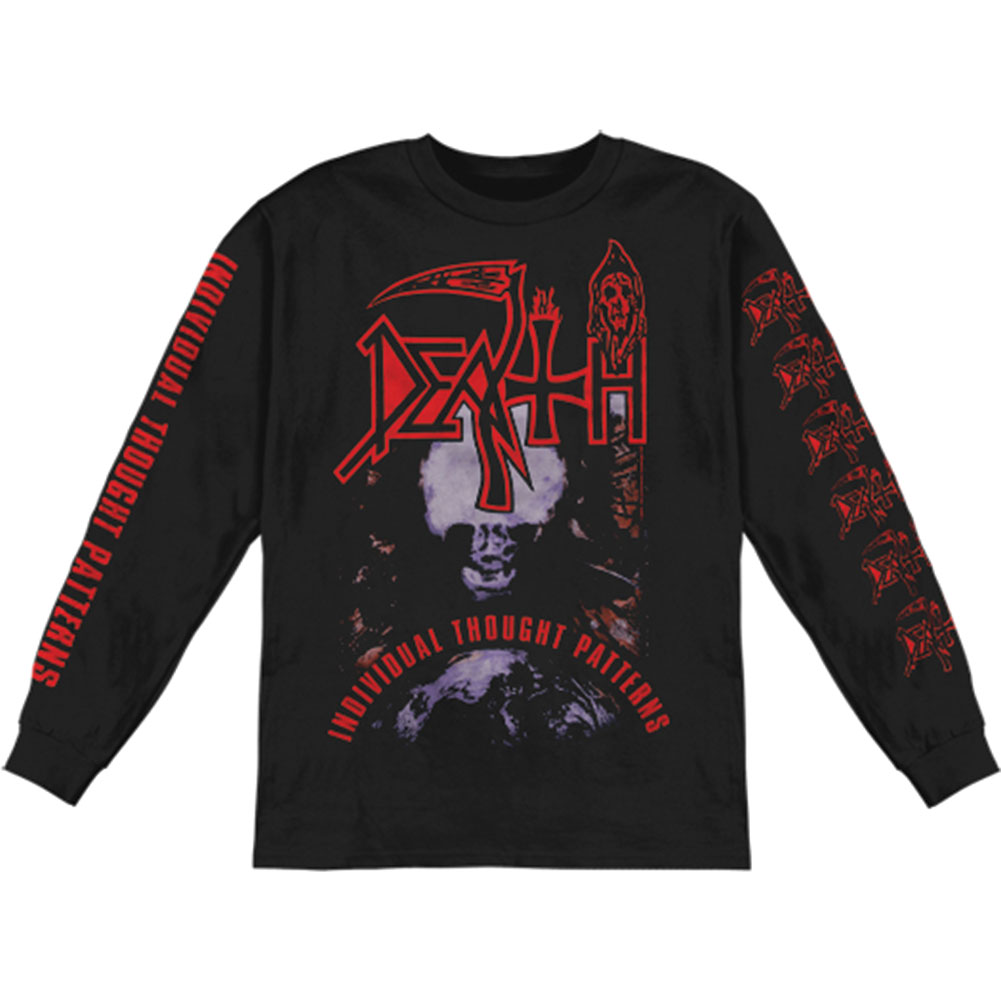 Death Men's  Individual Thought Patterns  Long Sleeve Black